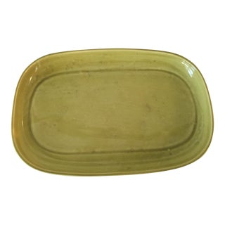 Russel Wright Chartreuse Oval Platter