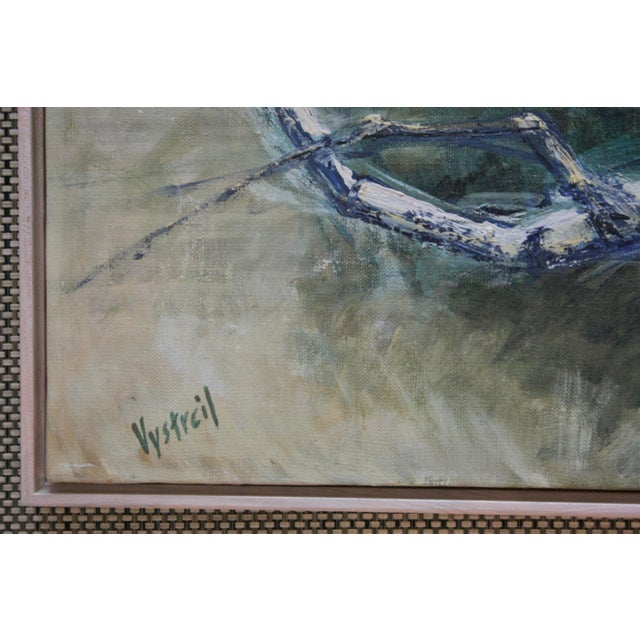 1960s Vintage Abstract Oil on Canvas Painting - Image 3 of 7