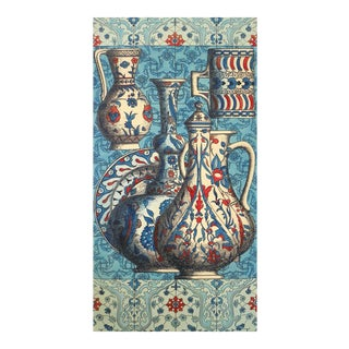 Vintage Piero Fornasetti Special Commission Large Iznik Plaque, 1950's.