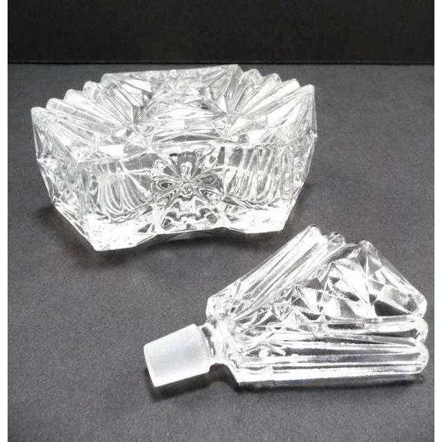 Art Deco Crystal Perfume Bottle Pompadour - Image 8 of 9
