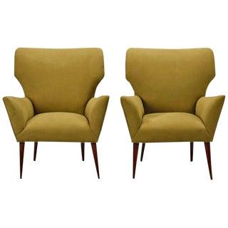 Italian Mid-Century Armchairs - a Pair