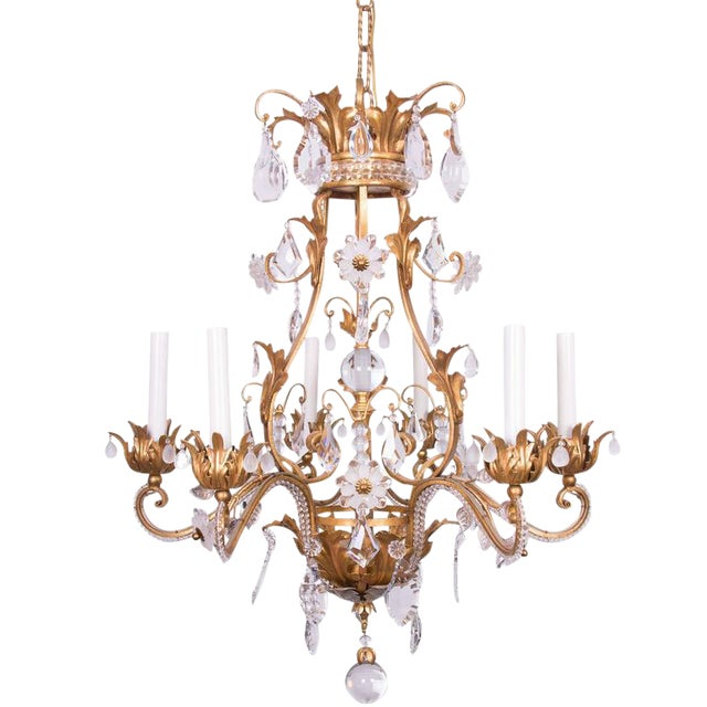 French Baguès Chandelier - Image 1 of 4