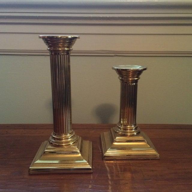 Baldwin Brass Column Candlesticks - APair - Image 2 of 6