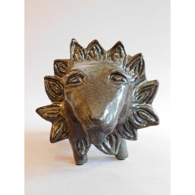 Bennington Potters Stoneware Bank Lion Figure - Image 4 of 11
