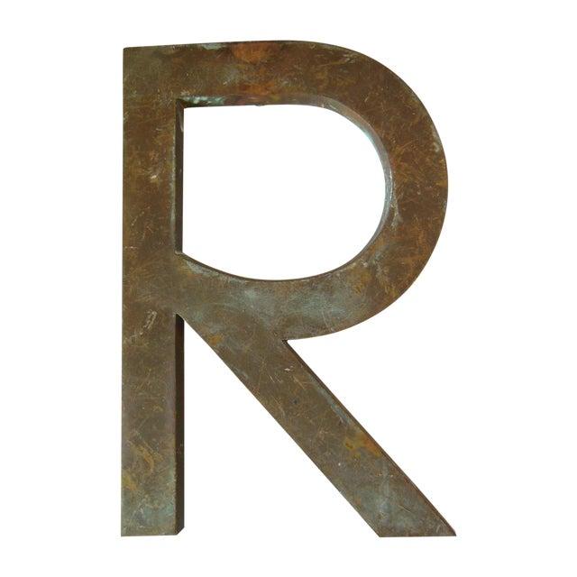 Image of Vintage Bronze Letter R - Medium