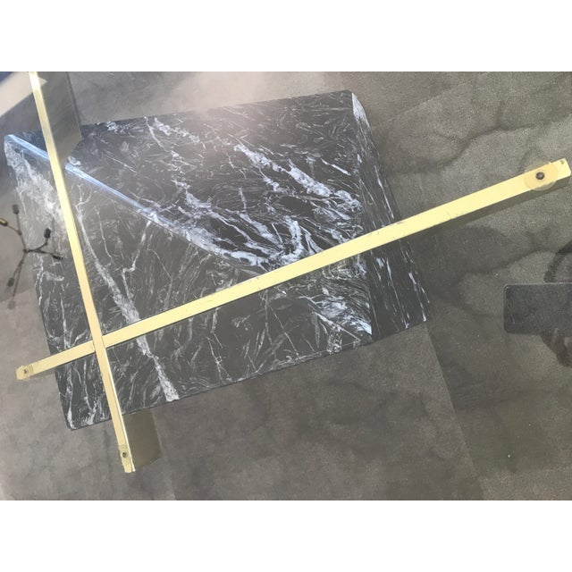 Artedi Nero Marquina Marble & Brass Coffee Table - Image 6 of 8