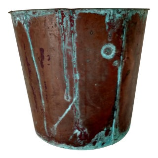 Huge Antique Copper Bucket