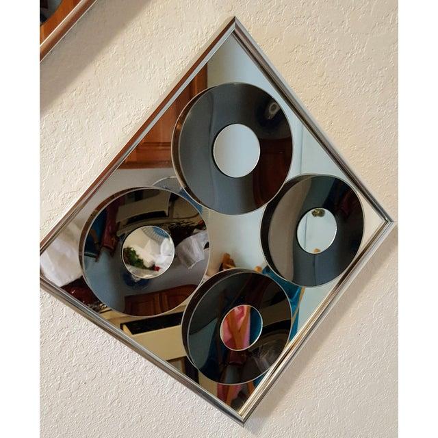 1970s Vintage Hal Bienenfeld Op Art Mirrors - a Pair - Image 4 of 8