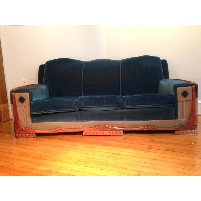 Art Deco Mohair Sofa & Armchair - A Pair - Image 3 of 11