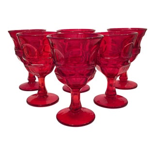 Fostoria Argus Ruby Goblets - Set of 6
