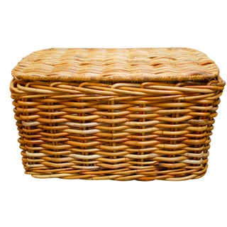French Wicker Basket With Lid