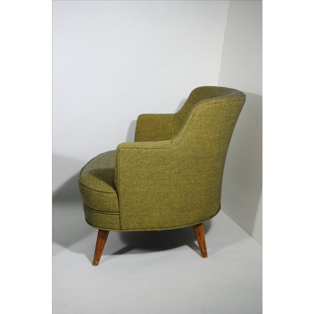 Mid-Century Extra Wide Occasional Green Chairs - Image 4 of 5