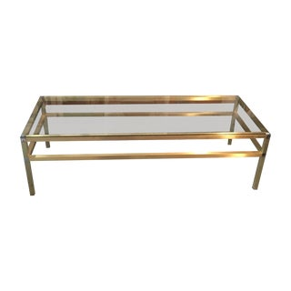 Mid-Century Gold Coffee Table