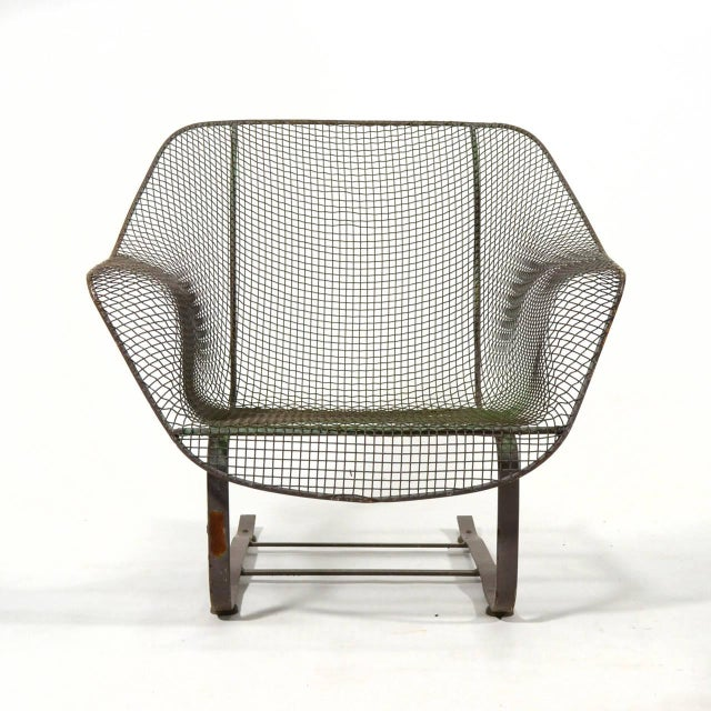 Woodard Sculptura Large Cantilevered Lounge Chair - Image 4 of 7