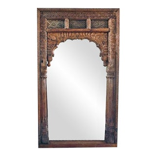 Antique Doorway Wooden Mirror
