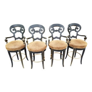 Century Furniture Swivel Barstools - Set of 4