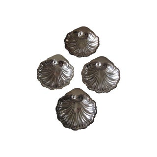 Silver-Plate Scallop Salt Cellars - Set of 4
