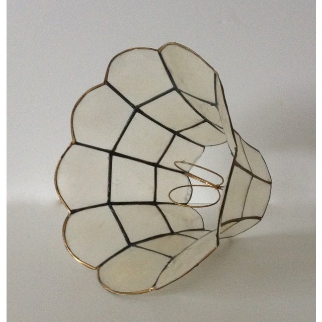 1960's Capiz Shell Scalloped Clip-On Shade - Image 4 of 7