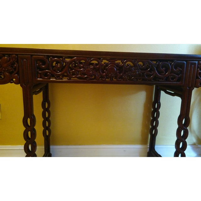 Antique hand carved chinese altar console table chairish