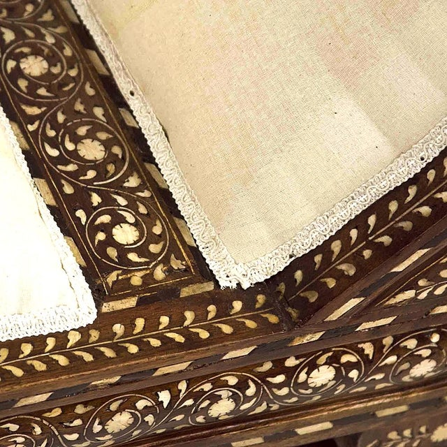 Anglo Indian Bone Inlay Chaise Lounge - Image 3 of 4