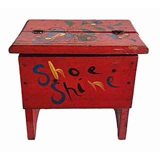 Shoe Shine Box Vintage
