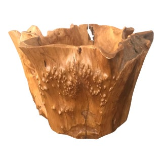 Mid-size Decorative Burl Wood Bowl