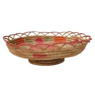 Pink Coil Pedestal Basket