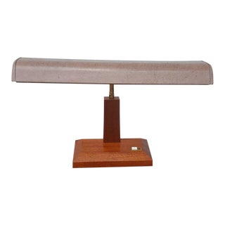 Mid-Century Modern Dayton Walnut & Gooseneck Desk Lamp