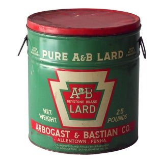Vintage Sarreid Ltd A&B Lard Can