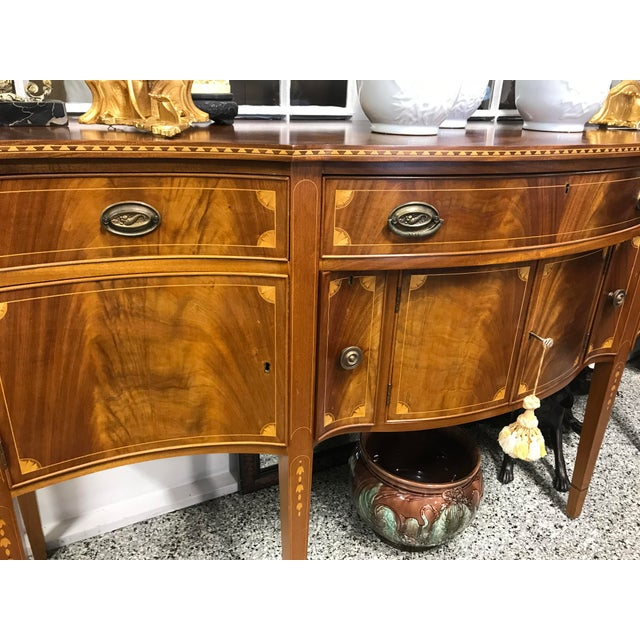 American Classical Vintage China Cabinet / Sideboard - Image 3 of 8