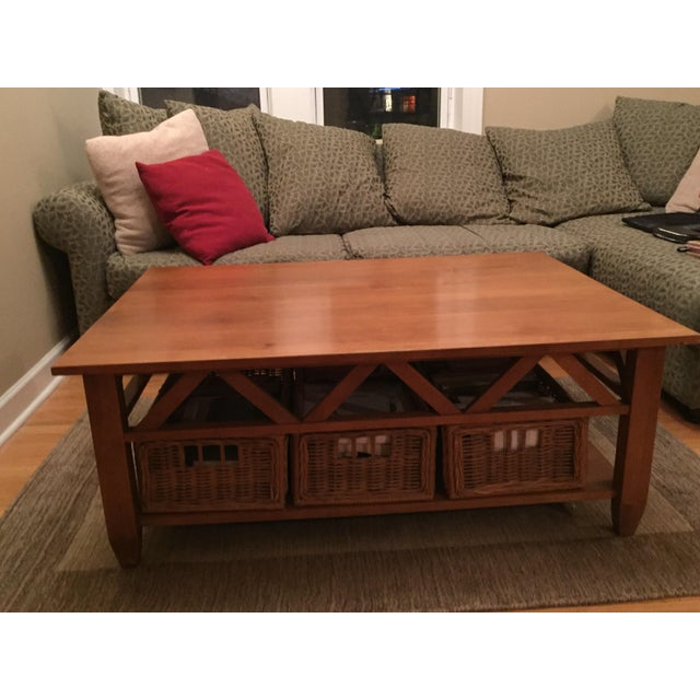 Ethan Allen Trevor Coffee Table: Solid Wood Ethan Allen Coffee Table