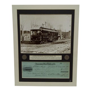 1905 Jamestown Street Railway Company Multi-Media Collage