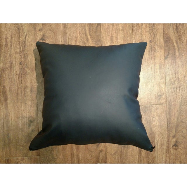 Logan Collection Leather & Cowhide Pillow - Image 5 of 5