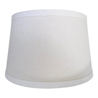 Pottery Barn Ivory Linen Tapered Drum Lamp Shade