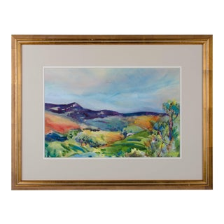 "Jeanette Wolff ""Central Coast Wine Country"" Watercolor and Pastel Painting"