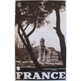 1950 Vintage French Travel Poster, Jules Mausoleum