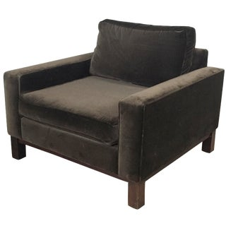 Room & Board Brown Suede Club Chair
