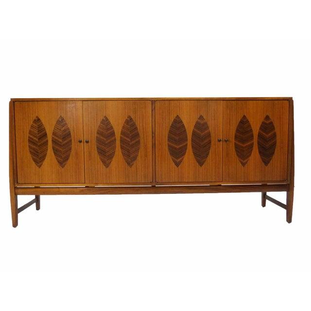 Kipp Stewart for Calvin Furniture Teak & Rosewood Inlay Sideboard - Image 2 of 11