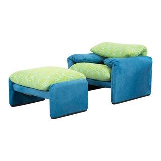 Vico Magistretti Maralunga Chair + Ottoman