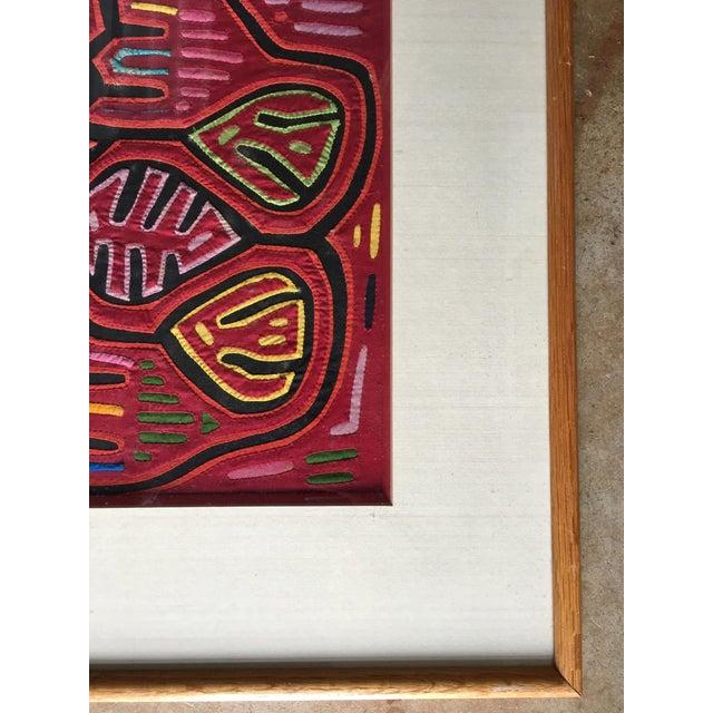 Vintage Indian Mola Framed Textile Art - Image 5 of 9