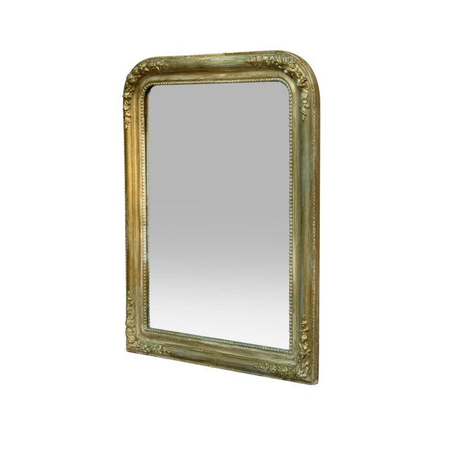 Image of French Style Gold & Green Wall Mirror