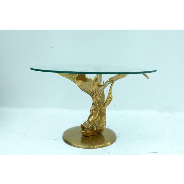 Brass Glass Koi Fish Coffee Table Chairish