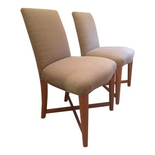 Vintage Donghia Studio Striped Dining Chairs - A Pair