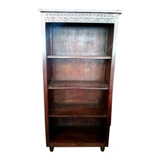Moroccan Carved Solid Wood Bookcase