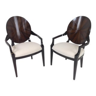 Deco Style Rosewood Armchairs - A Pair
