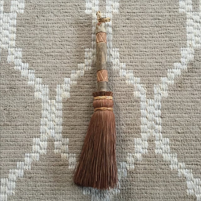 Rustic Carved Hand Broom - Image 2 of 8