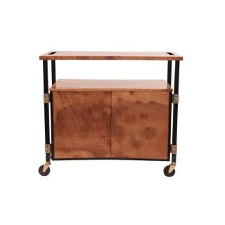 Phenomenal Figural Burl Wood Bar Cart by Romweber