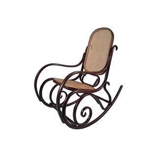 Thonet Attri. Caned Bentwood Rocking Chair