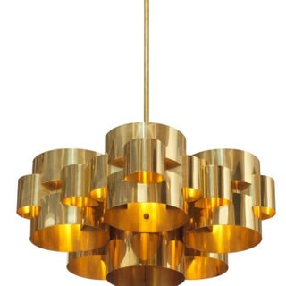"""Curtis Jere 1975 """"Clouds"""" Chandelier, Signed"""