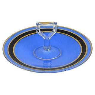 Vintage Cobalt Appetizer Platter